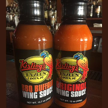 Wing Sauces Kislings Tavern